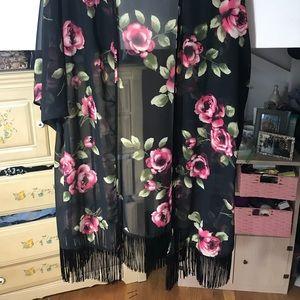 Floral Forever 21 Cardigan